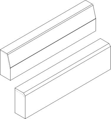 Krawężniki betonowe rysunek poglądowy
