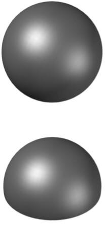 Kula i półka rysunek poglądowy