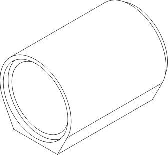 Rury betonowe ze stopką rysunek poglądowy
